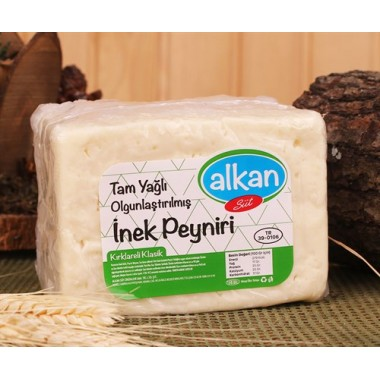 Kırklareli-Alkan-Sert İnek Peyniri-1 Kalıp-700 Gr.